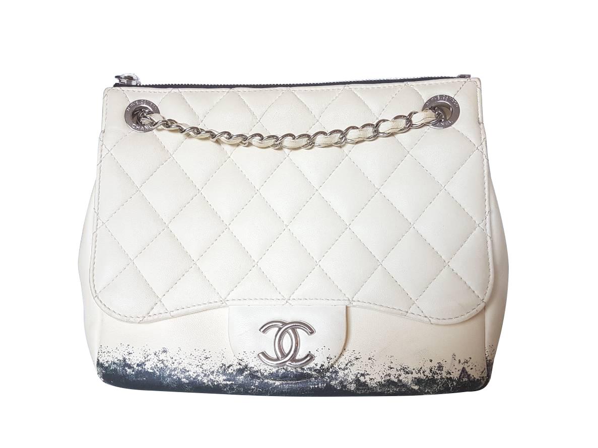 daa2e160694b Chanel 9 Inch Limited Edition Blizzard Flap Bag I Love Brand Names